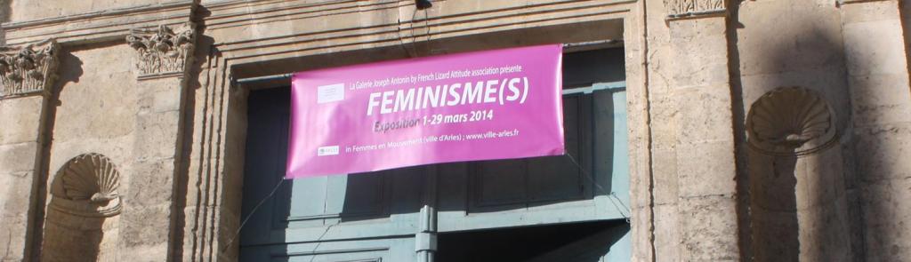 fronton chapelle Saint Anne - expo Féminisme(s)